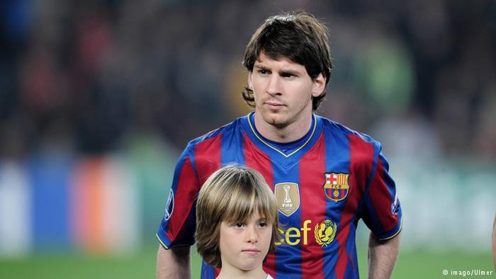 messi and kid