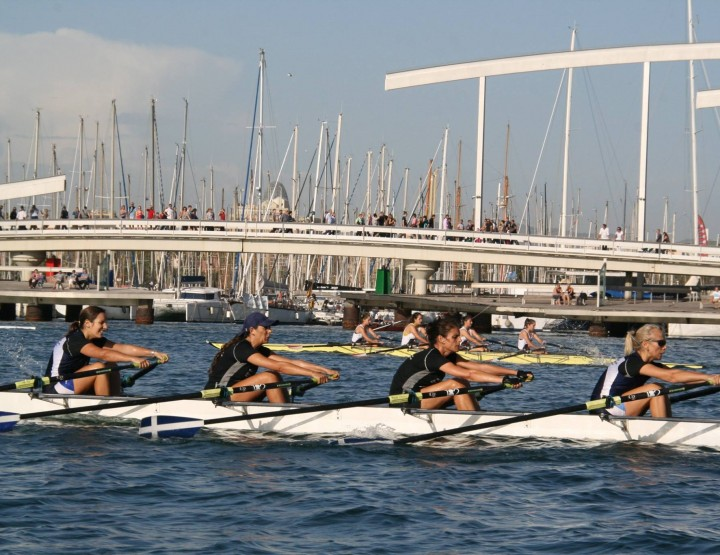 Rowing the new trending topic  July 26th in Barcelona's Reial Club Maritim