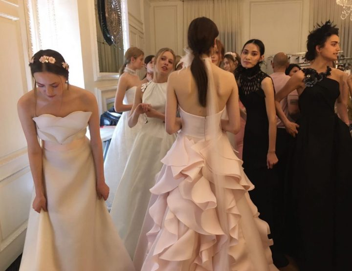 Angel Sanchez and his angels in Barcelona Bridal Week